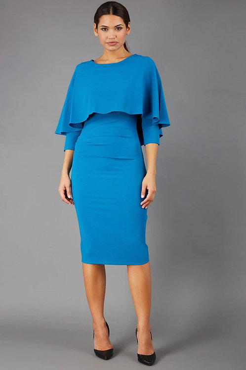 Sleek Fitted Cape Dress