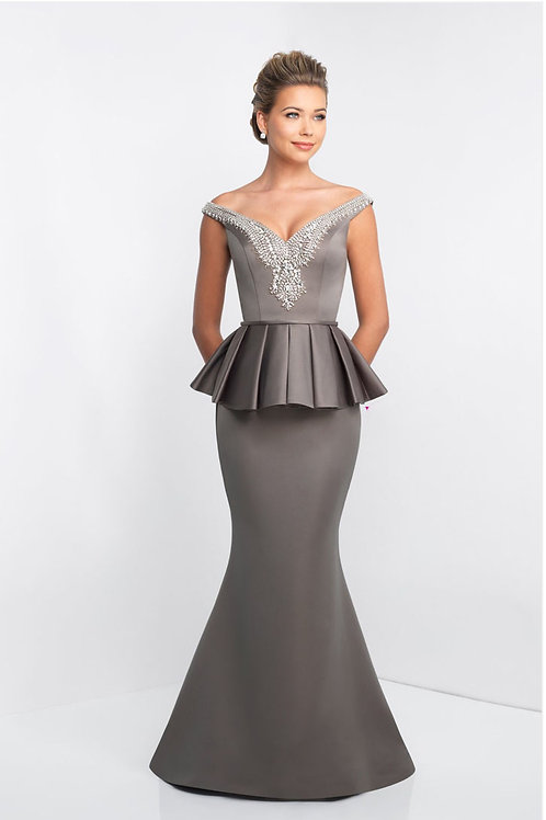 Sophisticated Peplum Gown