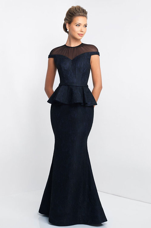 Navy Gorgeous Peplum Gown