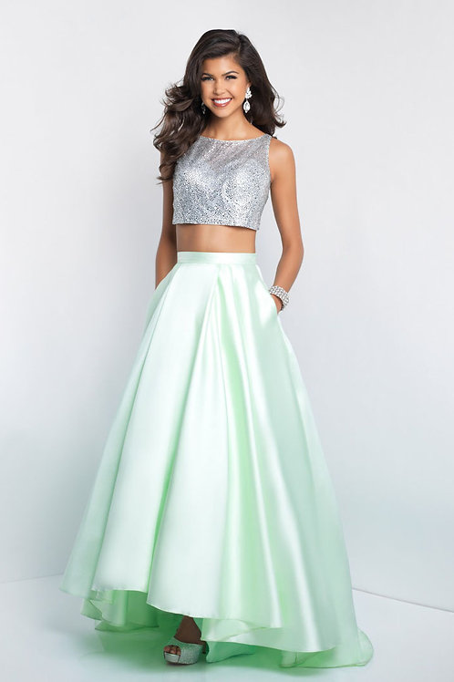 Green Two-Piece Shine Gown