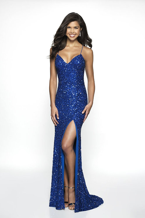 Blue Sexy Shimmer Gown