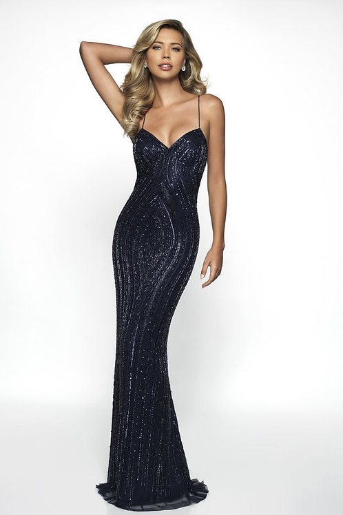 Navy Sexy Chic Gown