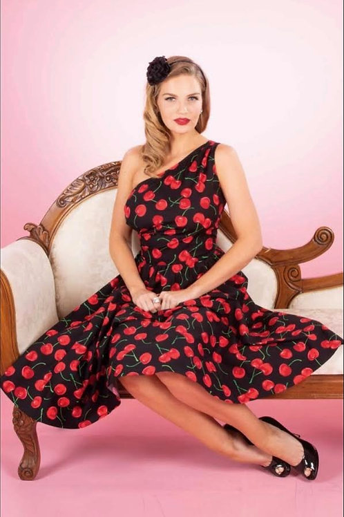Blossom in Red and Black Swing Dress