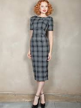 Going To Rome Plaid Dress