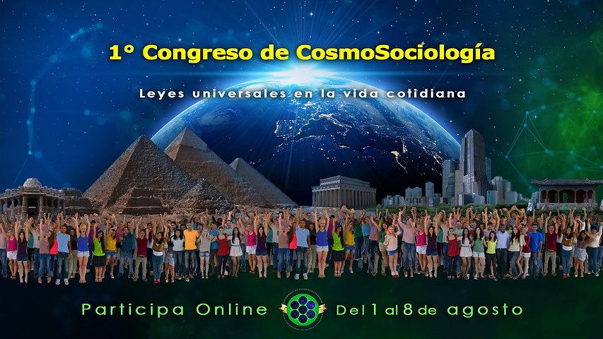 1° Congreso de CosmoSociología, portada.