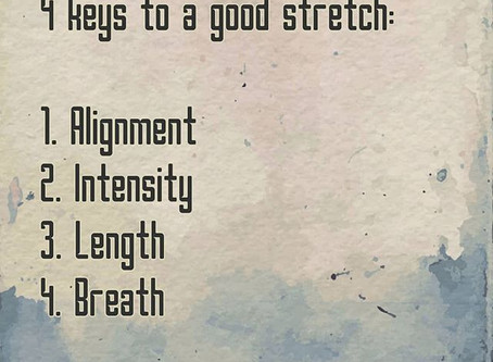 What makes a good stretch?