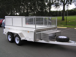 NSW Rural Fire 3050x1830 Plant Trailer 2000kg With  Ramp and box type sides #800