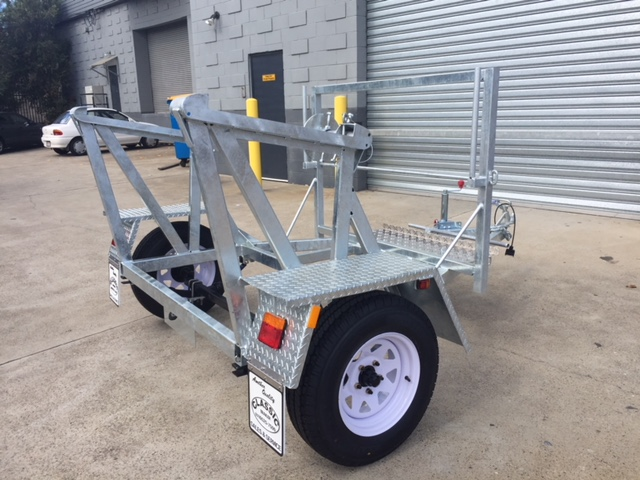 Cable Drum With Sign Rack