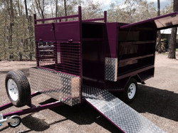 Vision Lifestyle Mower Trailer  2100x1500W Plus front Compartment #10029QLD (9)