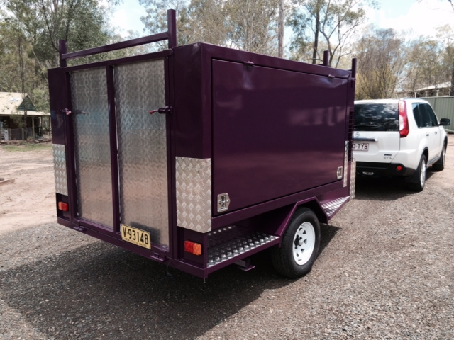 Vision Lifestyle Mower Trailer  2100x1500W Plus front Compartment #10029QLD (4)