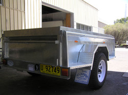 7x4 Commercial Box trailer