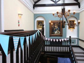Our decorated staircase.