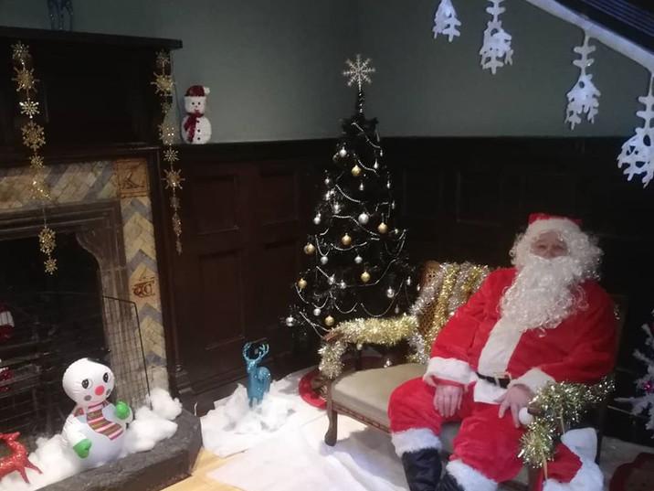 Santa at the Hall.