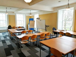 The Admiral's Quarters Room after renovation. This room is being used by Cardiff and Vale COllege to teach free Maths & English classes.