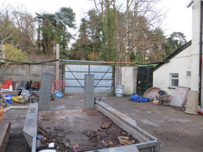 Rear of ground as was. Our gardening Polytunnel is now based here.