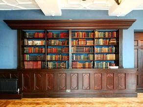 The renovated bookshelf in The Kemey's Room.