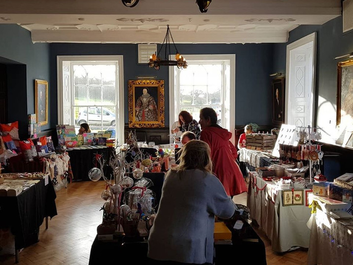 Stalls and craft fairs at the Hall.