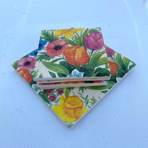 Tulip Coaster & Trivet Set