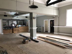 The old pub during renovation, which is now Morgan's Table Cafe.