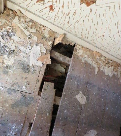 1st floor flooring condition.