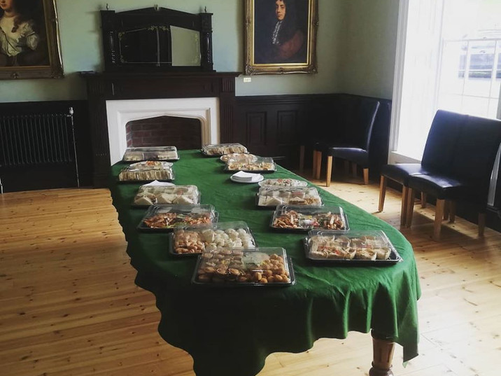 Morgan's Table catering for an event at the Hall.