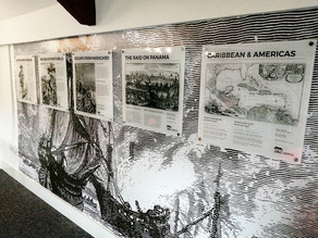A history board of Captain Morgan in The Crows Nest.