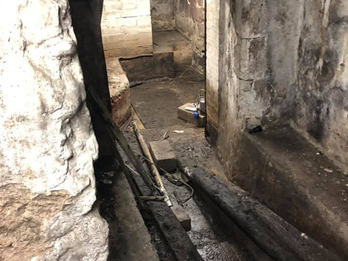 The Cellar during renovation.