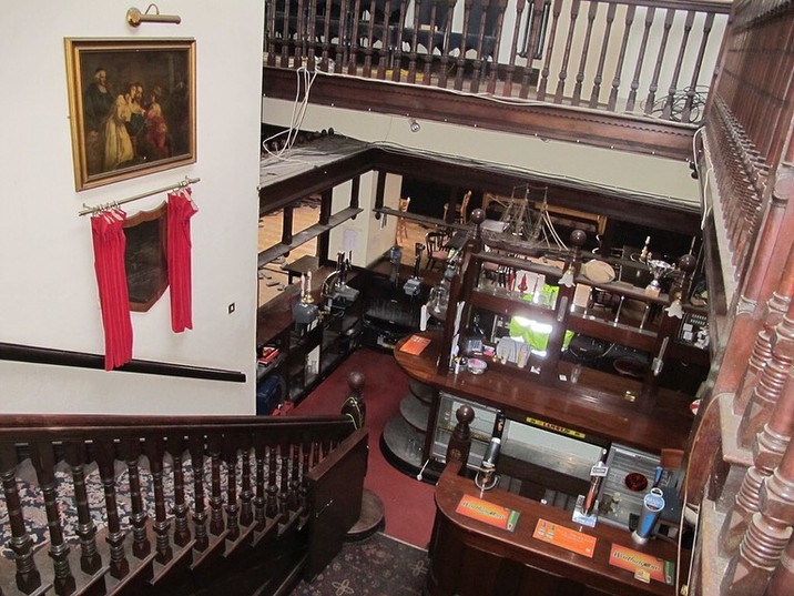 The old pub in what is now the main entrance and reception to the Hall.