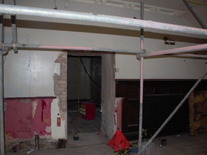 Work starting on the ground floor.