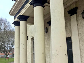 The entrance pillers prior to renovation.