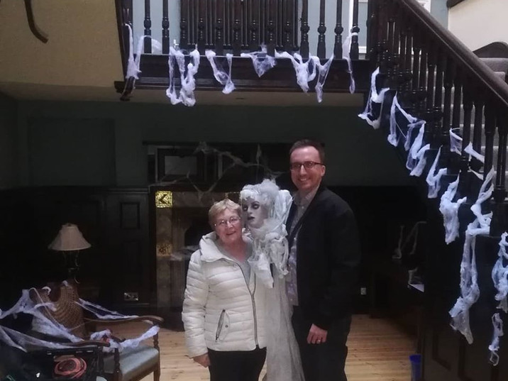 Local Councillors at the Hall for Halloween.