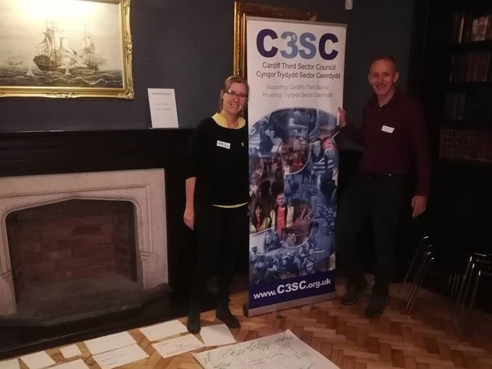 C3SC hosting an event at Llanrumney Hall.