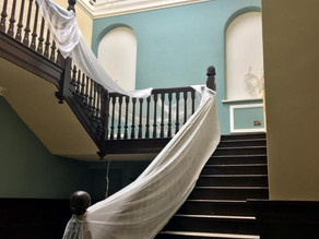 Continued work on the main staircase.