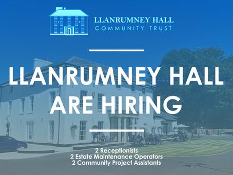 Job Vacancies at Llanrumney Hall