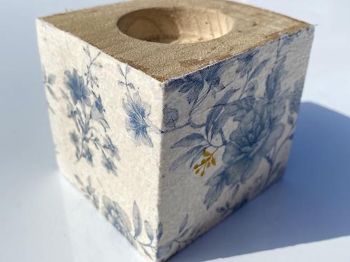 Blue Flower Candle Holder