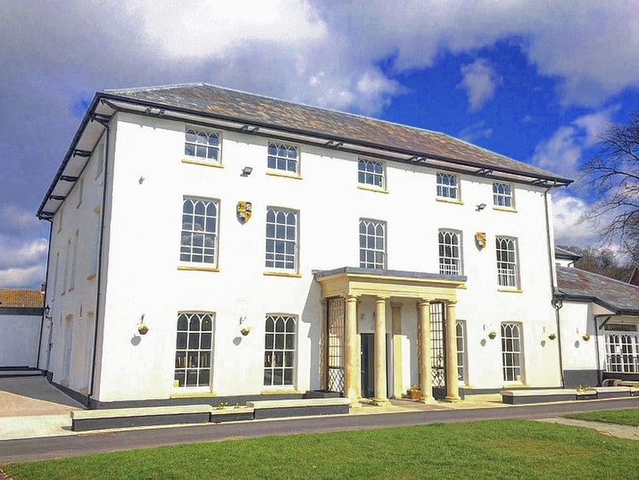 Llanrumney Hall on a lovely sunny day.
