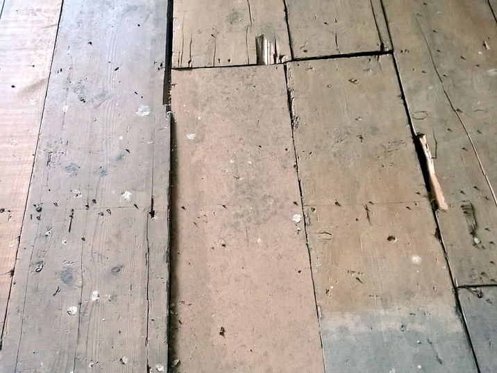 The majority of the wood was restored and recycled to be used in the renovation of the Hall.