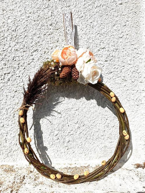 Peach and White Wreath