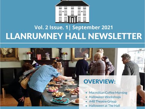 Llanrumney Hall September Newsletter- Volume 2. Issue 1.