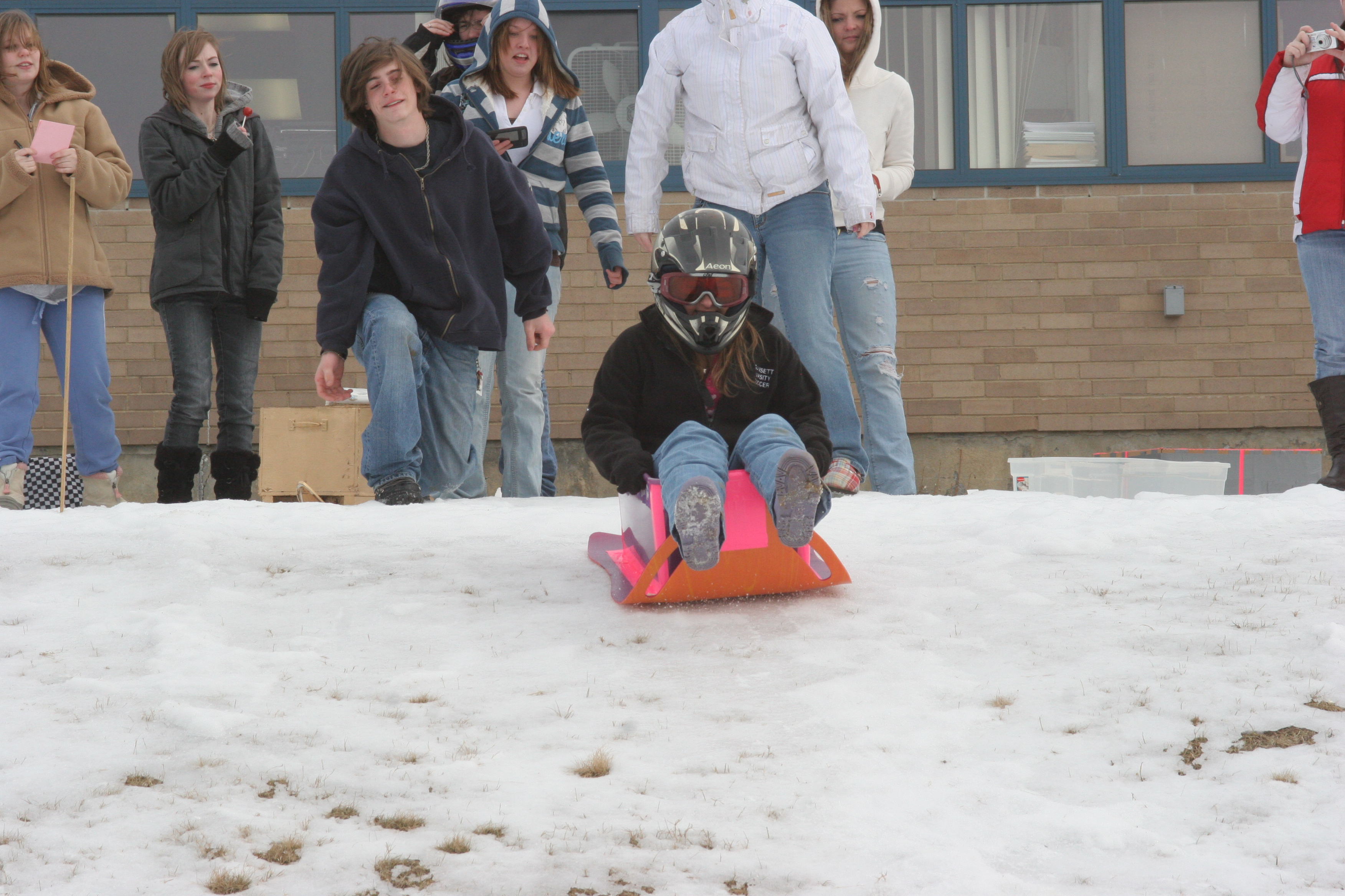 Recycled Sled Races