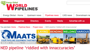 """NED PIPELINE 'RIDDLED WITH INACCURACIES"""""""