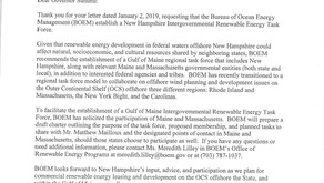 BOEM supports Gulf of Maine offshore wind task force for NH, MA & ME
