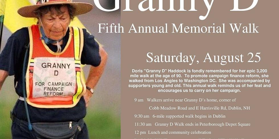 Granny D Memorial Walk