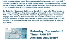 Presentation at AUNE - Mega Dams & Northern Pass: their devastating impact on Canada & First