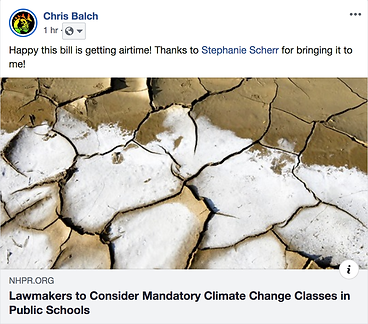 Mandatory Climate Education Bill - NHPR.