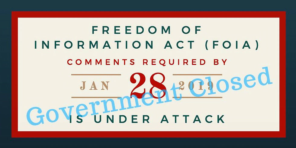 Protect Freedom of Information Act (FOIA) Public Access To Info