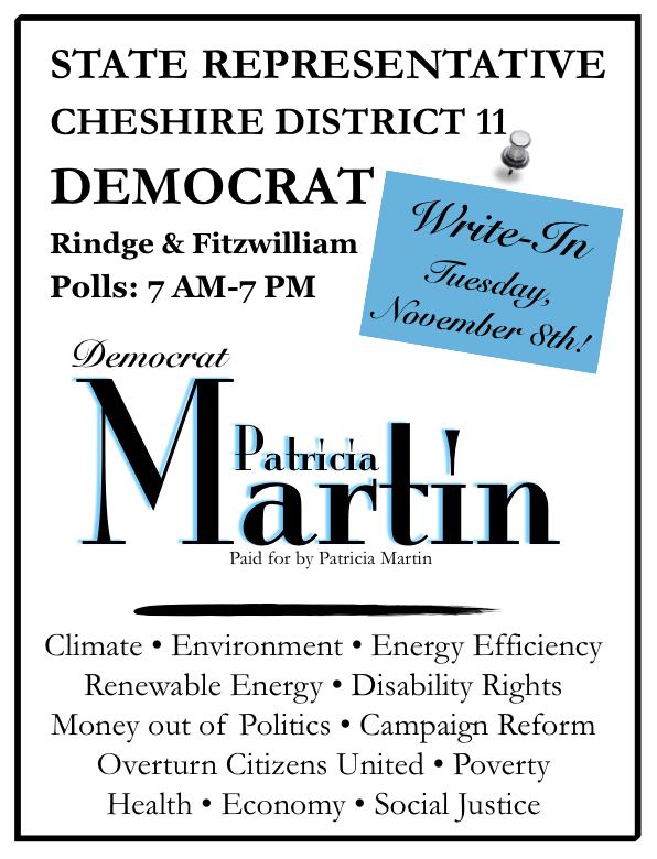 Palm political flyer - front