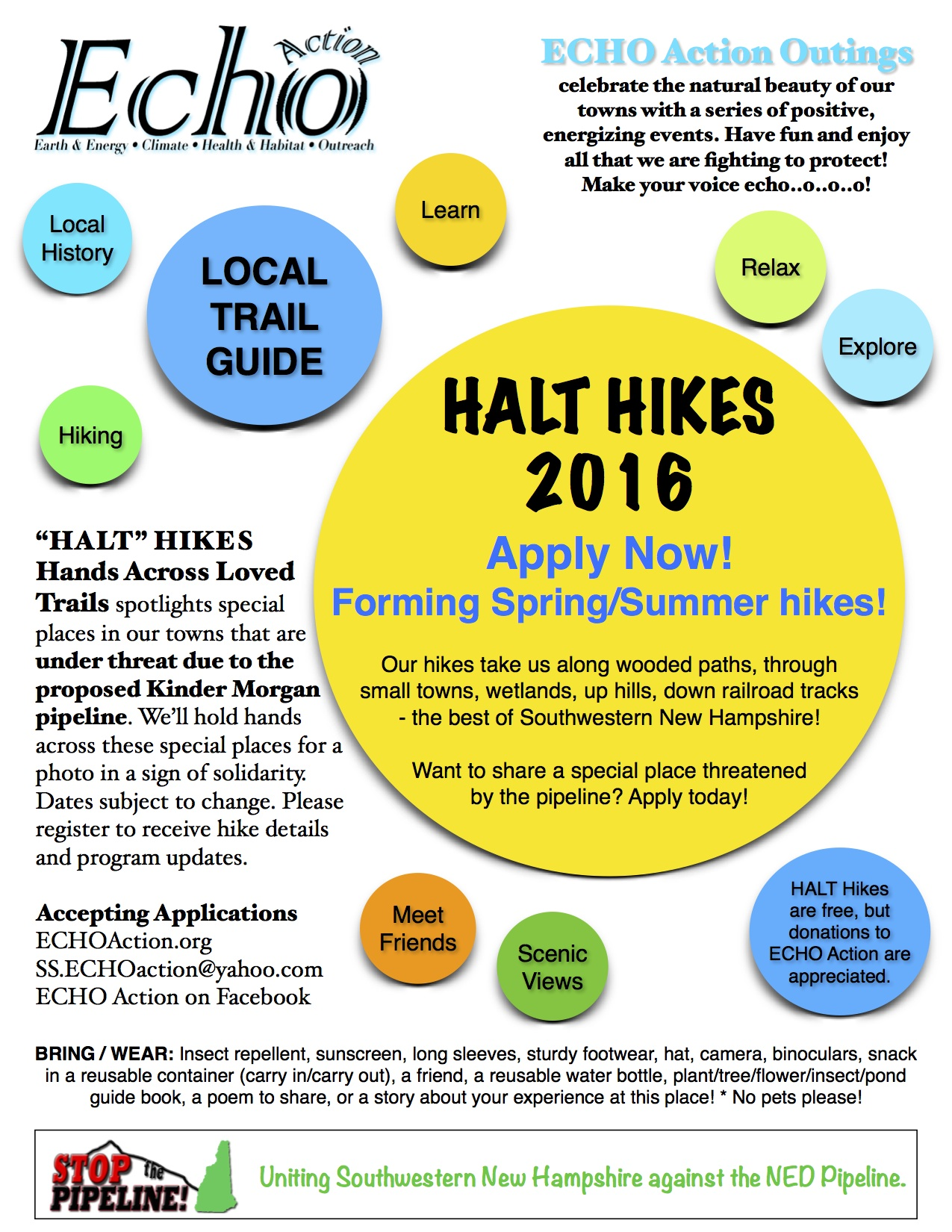 HALT Hikes 2016 Flyer
