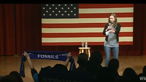Chelsea Clinton challenged on Standing Rock at Keene State College #NoDAPL