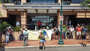 Blockaders say Democratic Party fails people and climate